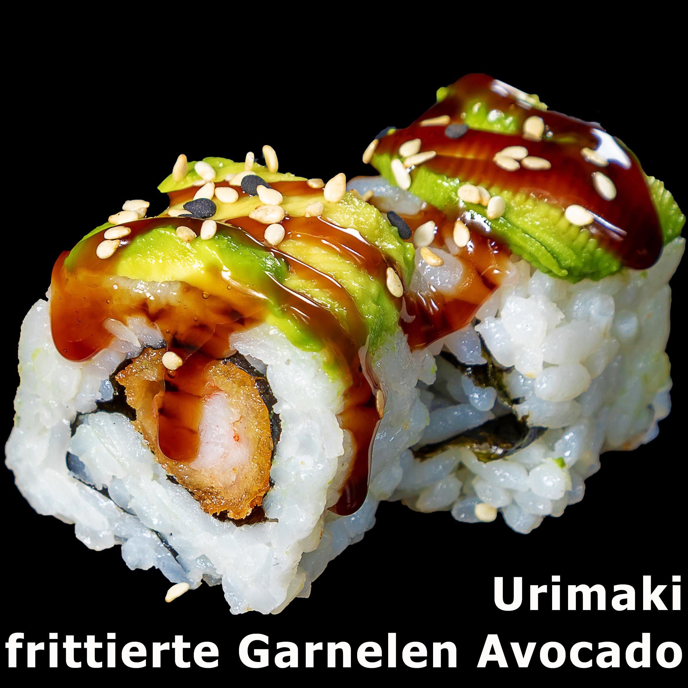 33. Urimaki frittierte Garnelen Avocado