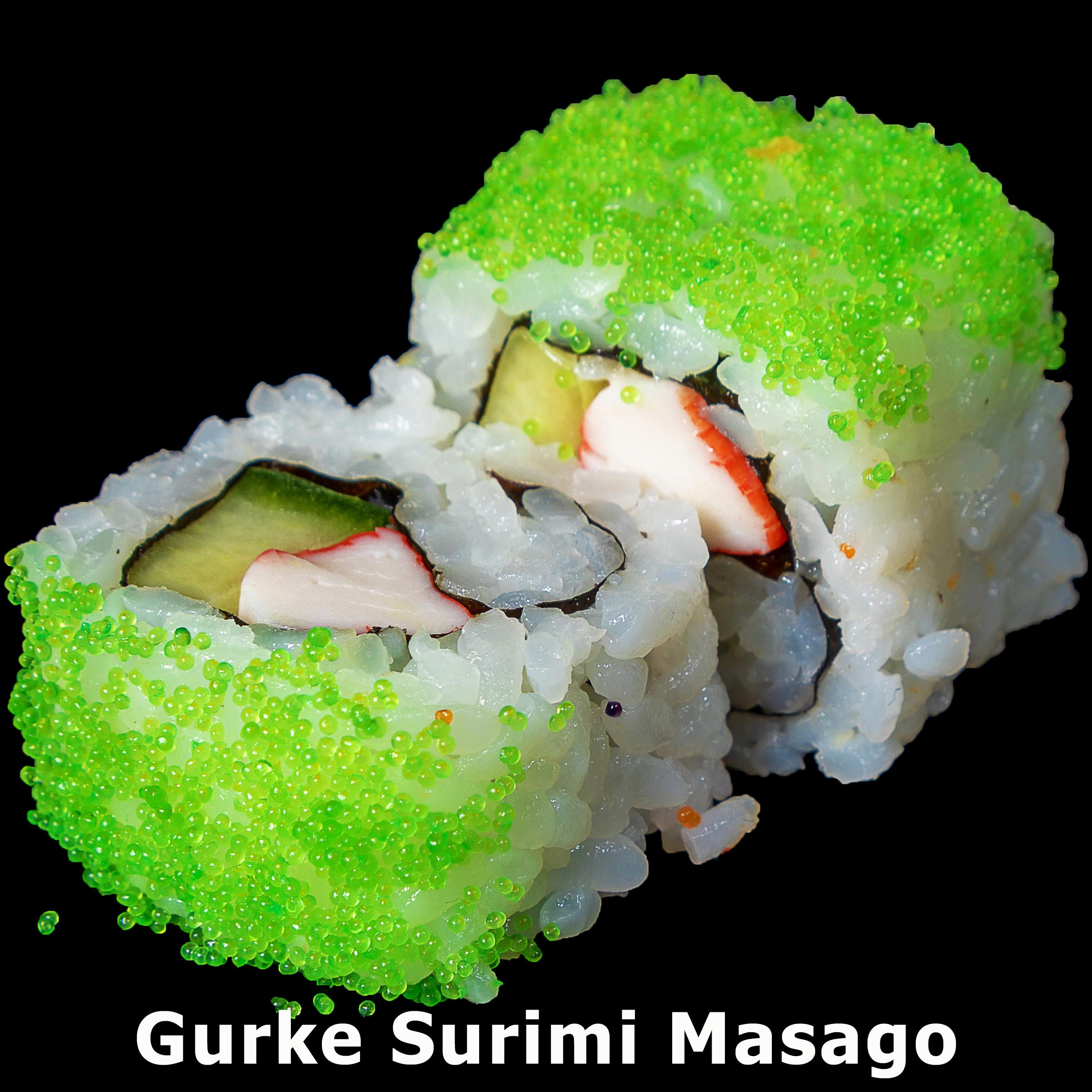 36. Gurke Surimi Masago grün