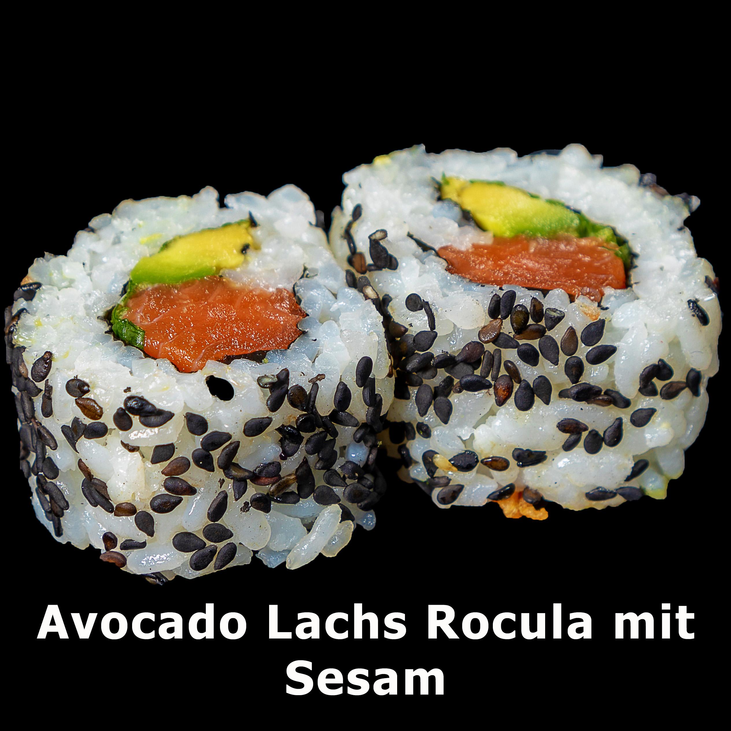 40. Avocado Lachs Rocula mit Sesam