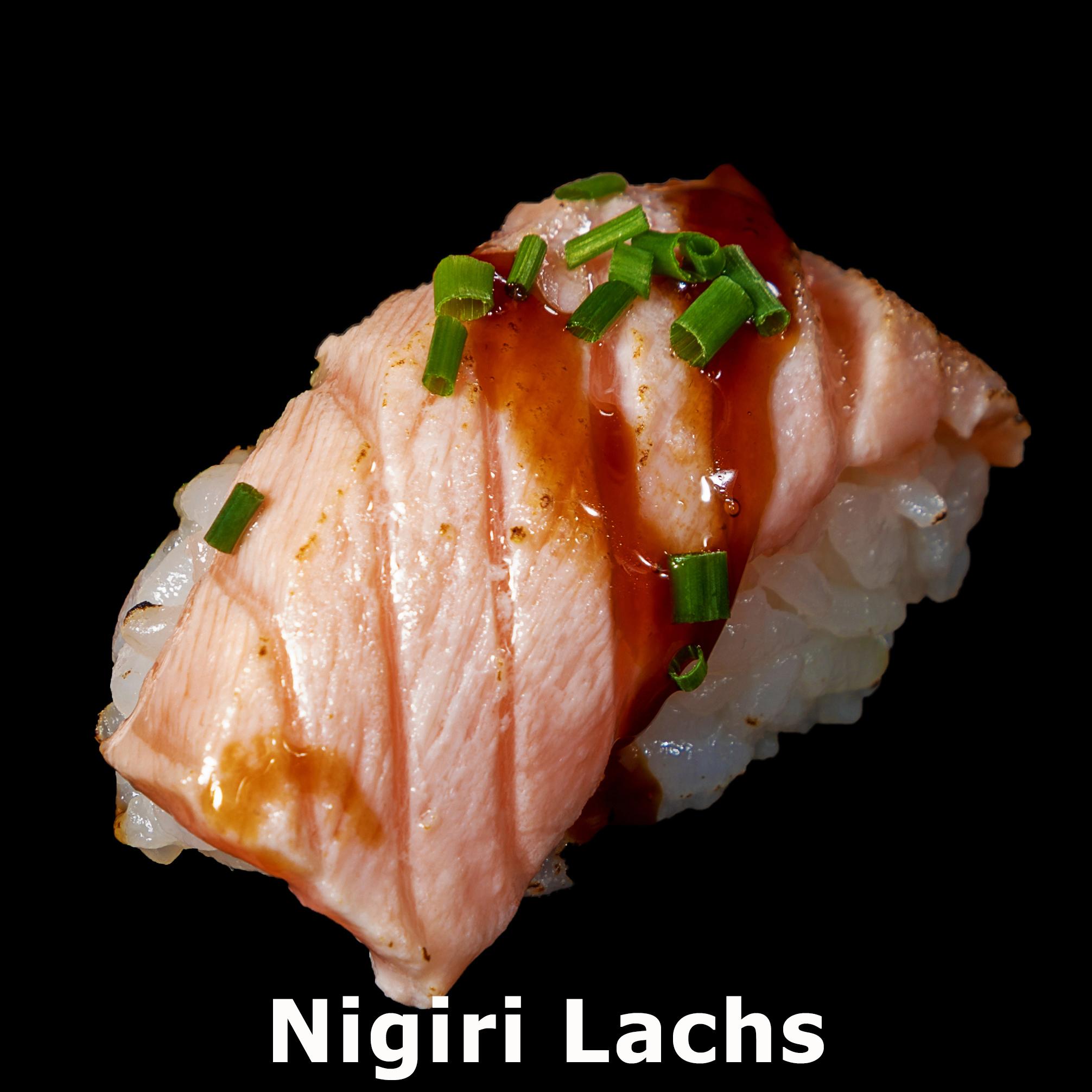 64. Nigiri Lachs flambiert